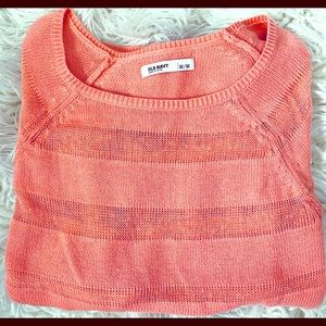 Coral long sleeve thin sweater